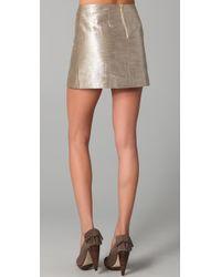 Alice + Olivia - Myra Metallic Miniskirt - Lyst