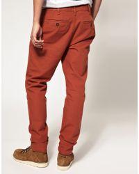 ASOS Collection - Orange Asos Heavyweight Slim Chino for Men - Lyst
