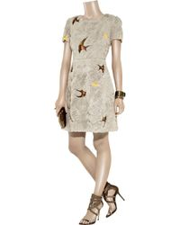 Erdem | Gray Silvia Silk-Chiffon Dress | Lyst