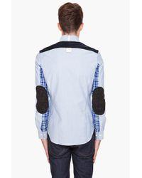 Junya Watanabe - Blue Buttondown Shirt for Men - Lyst
