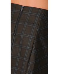 L.A.M.B. - Green Short Plaid Kilt Skirt - Lyst