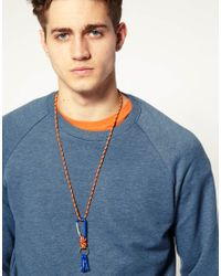 ASOS Collection - Blue Asos Coloured Caribeena and Rope Key Chain Lanyard for Men - Lyst