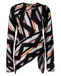 Proenza Schouler | Black Tye Die Striped Top | Lyst