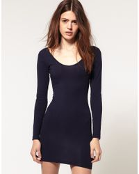 American Apparel | Blue Long Sleeved Mini Dress | Lyst