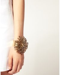 ASOS | Metallic Cord Bracelet With Feather | Lyst