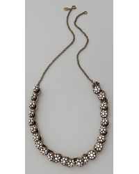 Club Monaco | White Vintage Button Necklace | Lyst