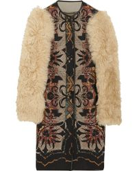 Etro | Multicolor Lamb Sleeved Printed Wool Blend Coat | Lyst