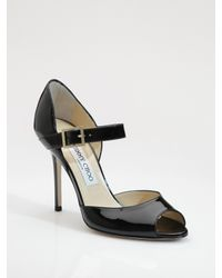 Jimmy Choo | Black Patent Leather Mary Jane Pumps | Lyst
