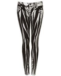 TOPSHOP   Black Petite Raw Hem Straight Jeans   Lyst