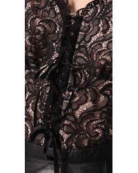 Nanette Lepore | Black Rich Bouquet Lace Top | Lyst