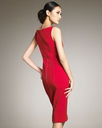 Narciso Rodriguez | Red Knee-length Sheath Dress | Lyst