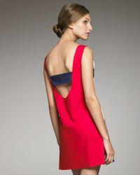 Philosophy di Alberta Ferretti | Multicolor Large-stripe Shift Dress | Lyst