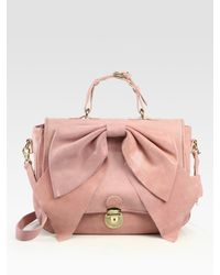RED Valentino | Pink Bow Top Handle Bag | Lyst