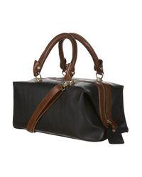 TOPSHOP - Black Contrast Trim Doctor Bag - Lyst