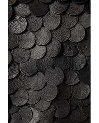 TOPSHOP   Black Leather Disc Blouse   Lyst