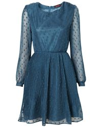 TOPSHOP | Blue Savannah Dress By Motel** | Lyst