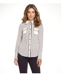 Tory Burch | Gray Margee Blouse | Lyst