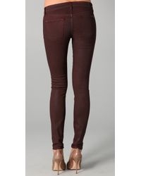 7 For All Mankind - Purple Shimmer Skinny Jeans - Lyst