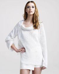 Ann Demeulemeester | White Open-weave Linen Sweater | Lyst