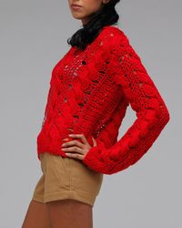 Aryn K. | Red Scarlet Sweater | Lyst