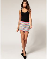 ASOS Collection | Multicolor Asos Mini Skirt in Rainbow Sequins | Lyst