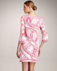 Emilio Pucci - Pink Square Neck Dress - Lyst