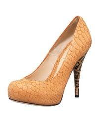 Fendi | Natural Superstar Zucca-heel Pump | Lyst