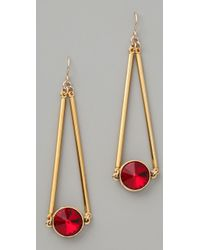 Gemma Redux | Siam Red Crystal Drop Earrings | Lyst