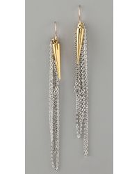 Gemma Redux - Metallic Plumb Bob and Chain Earrings - Lyst