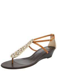 Giuseppe Zanotti | Natural Crystal Low-wedge Sandal | Lyst
