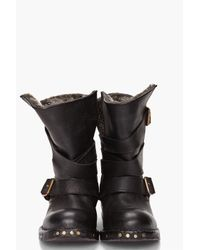 Jeffrey Campbell | Black Brit Fur Boots | Lyst