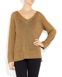 Kain | Natural Frances Open-knit Linen-blend Sweater | Lyst