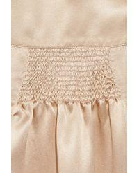 Miu Miu - Natural Silk-satin Dress - Lyst