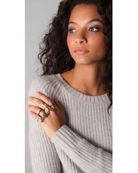 Noir Jewelry | Metallic Pirate 4 Finger Dagger Ring | Lyst