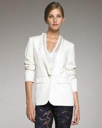 Philosophy di Alberta Ferretti | Natural Lightweight Twill Tuxedo Jacket | Lyst