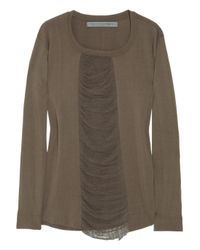 Raquel Allegra | Brown Shredded Jersey Top | Lyst