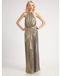Tibi | Metallic Halter Dress | Lyst