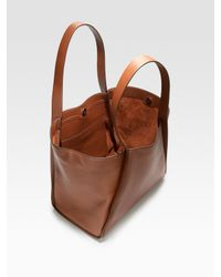 Akris | Brown Alex Cervo Tote | Lyst