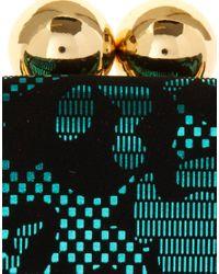 ASOS Collection - Black Metallic Jacquard Ball Clip Frame Purse - Lyst
