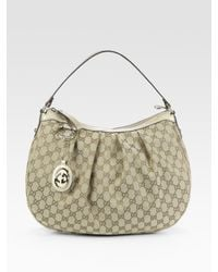 Gucci | Natural Sukey Gg Medium Hobo Bag | Lyst