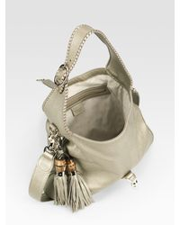 Gucci - New Jackie Medium Metallic Leather Bag - Lyst