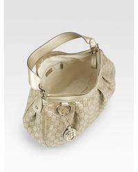Gucci - Sukey Gg Medium Metallic Hobo Bag - Lyst