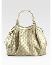 Gucci | Metallic Sukey Medium Ssima Tote Bag | Lyst