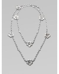Buccellati | Metallic Blossom Sterling Silver Station Necklace | Lyst