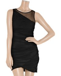 Elizabeth and James - Black Lark Mesh Silk-crepe Dress - Lyst