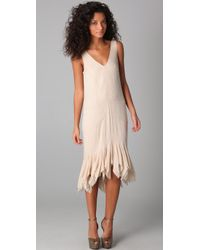 Gryphon | Natural Flutter Dress | Lyst