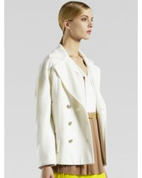 Gucci - White Double-breasted Wool Caban Coat - Lyst