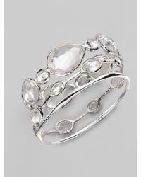 Ippolita - Metallic Clear Quartz & Sterling Silver Bracelet - Lyst