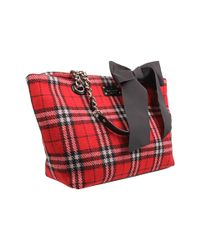 kate spade new york | Red Fireside Plaid - Small Coal Shoulder Bag | Lyst