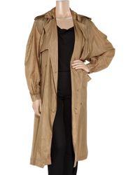 Lanvin | Natural Washed Silk-taffeta Trench Coat | Lyst